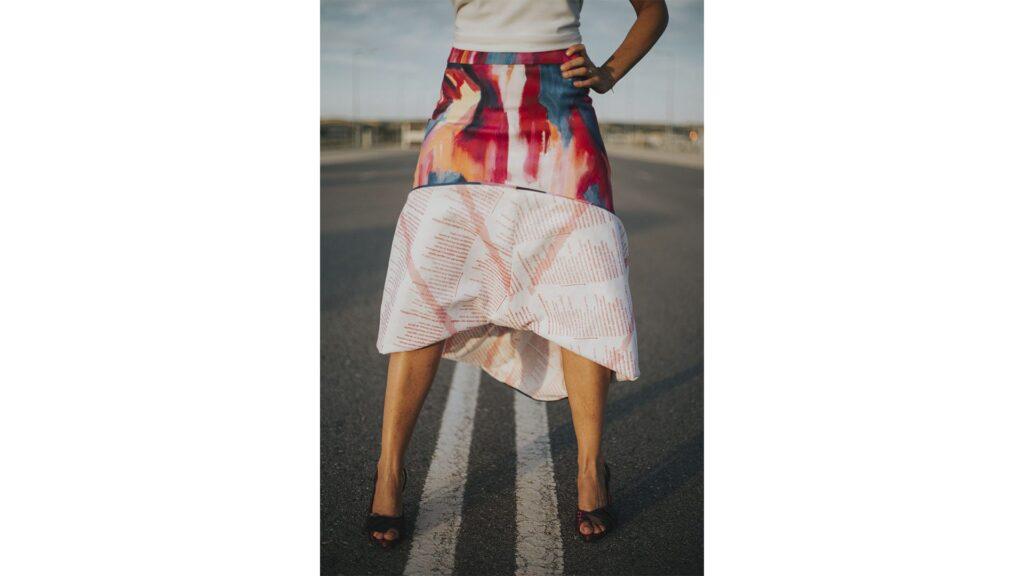 falda-larga-evase-detalle forro y etiqueta-maldita-maria-moda-sostenible