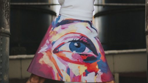 falda-midi-evase-maldita-maria-moda-sostenible frontal