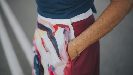 falda-midi-evase-maldita-maria-moda-sostenible detalle bolsillo