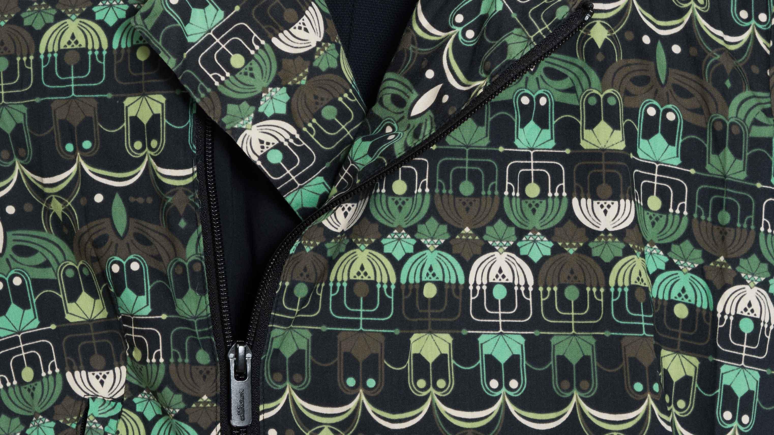 Detalle vestido algodón orgánico Skunkfunk