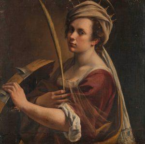 Autorretrato como Santa Catalina por Artemisia Gentileschi