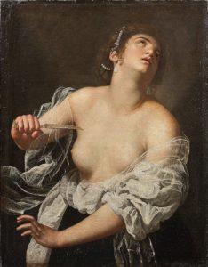 Lucrecia por Artemisia Gentileschi