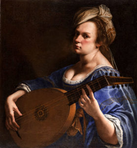 AAutorretrato tocando el laúd por Artemisia Gentileschi