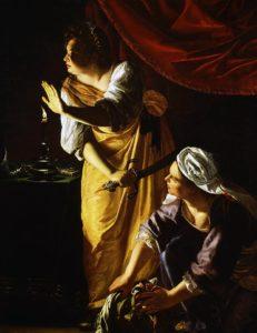 Judith y su doncella por Artemisia Gentileschi