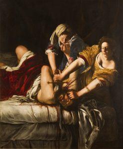 Judit decapitando a Holorfenes por Artemisia Gentileschi