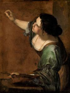 ARTEMISIA GENTILESCHI Autorretrato como alegoría de la pintura.
