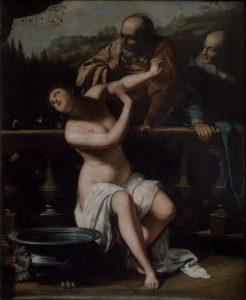 Susana y los viejos por Artemisia Gentileschi